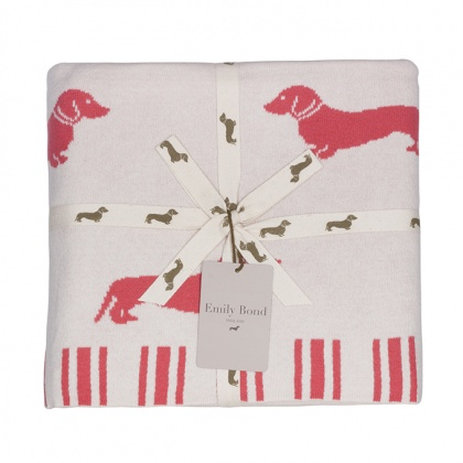 Dachshund Throw Pink: click to enlarge