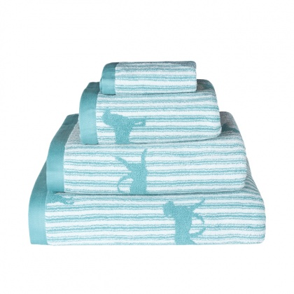 Labrador Towels Teal: click to enlarge
