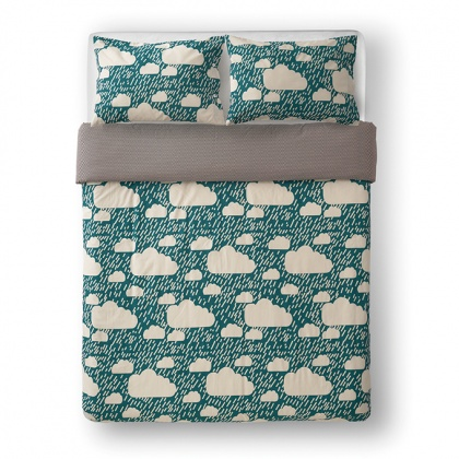 Rainy Day Bed Linen Green: click to enlarge