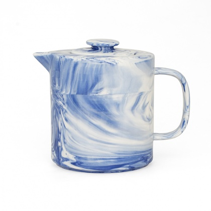Marble Teapot Blue: click to enlarge
