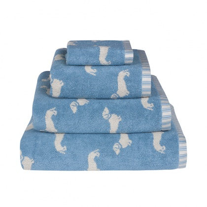 Dachshund Towels Blue: click to enlarge