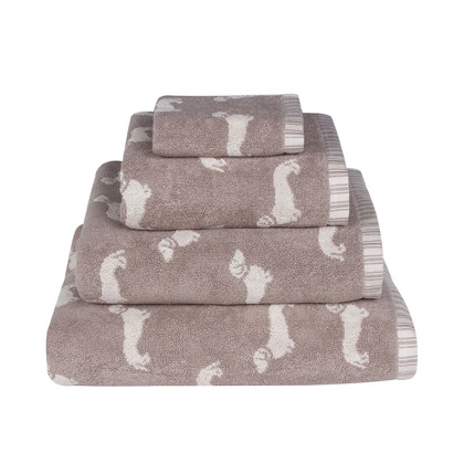 Dachshund Towels Brown: click to enlarge
