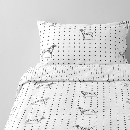 Dalmation Bedding: click to enlarge