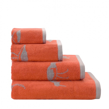 Oyster Catcher Towels Orange: click to enlarge