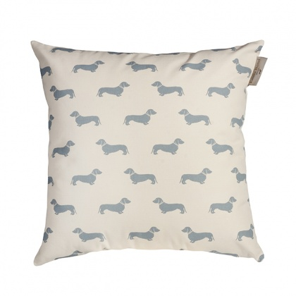 Dachshund Blue Cushion: click to enlarge