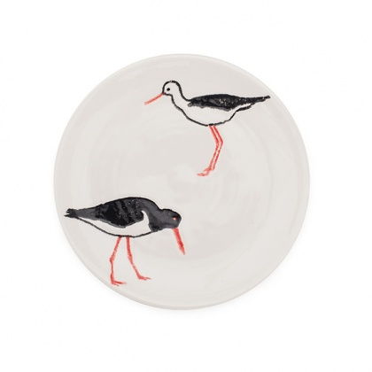 Side Plate Oyster Catcher: click to enlarge