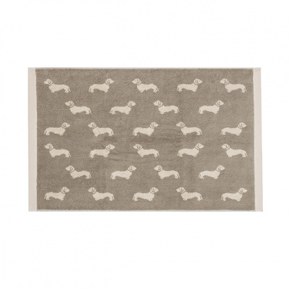 Dachshund Bathmat Brown: click to enlarge