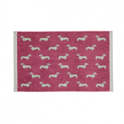 Dachshund Bathmat Pink: click to enlarge