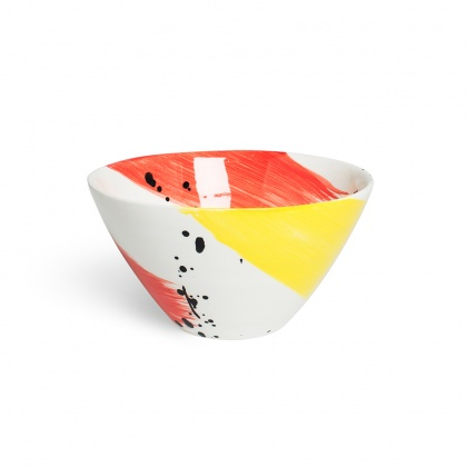 Swish Red & Yellow Cereal Bowl: click to enlarge