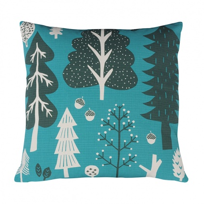 Forest Cushion Turquoise: click to enlarge