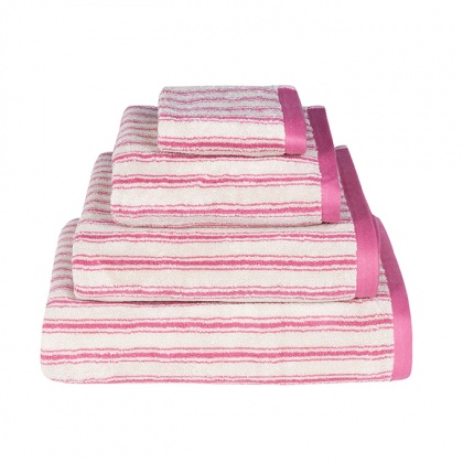 Stripe Towels Pink: click to enlarge