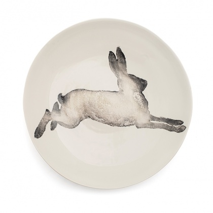 Hare Serving Bowl Large Grey: click to enlarge