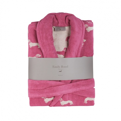 Dachshund Bathrobe Pink: click to enlarge