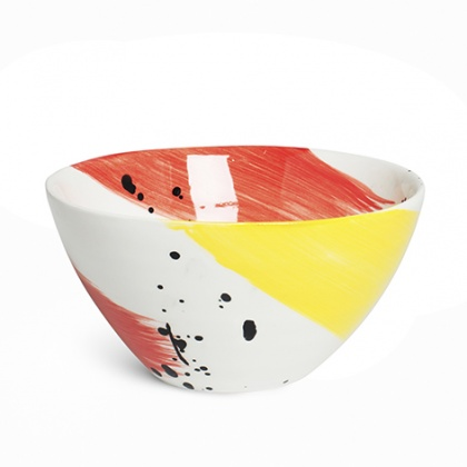 Swish Red & Yellow Salad Bowl: click to enlarge