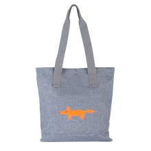 Mr Fox Tote Bag Grey