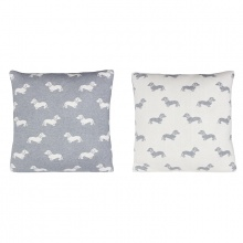 Dachshund Cushion Grey