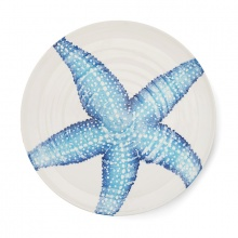 Platter Starfish Blue