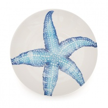 Serving Bowl Starfish Blue