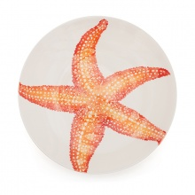Serving Bowl Starfish Orange