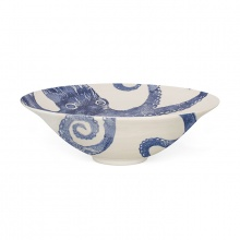 Salad Bowl Octopus Blue