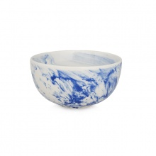 Marble Cereal Bowl Blue