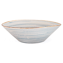 Stripe Salad Bowl