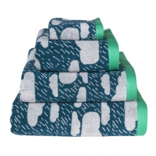 Rainy Day Towels Green