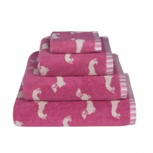 Dachshund Towels Pink