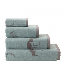 Oyster Catcher Towels Green