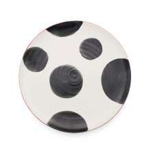Spots Charcoal Dinner Plate