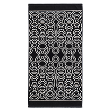 Black Beach Towel