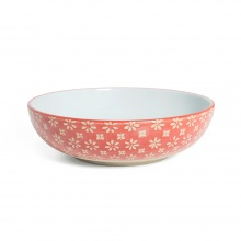 Supper Bowl Flower Red