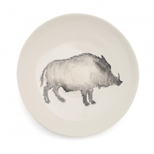 Wild Boar Serving Bowl Large Grey