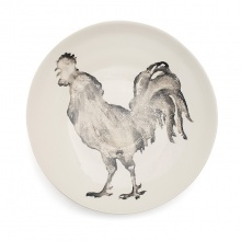 Cockerel Serving Bowl Large Grey