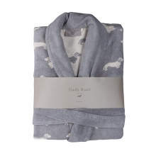 Dachshund Bathrobe Grey