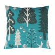 Forest Cushion Turquoise