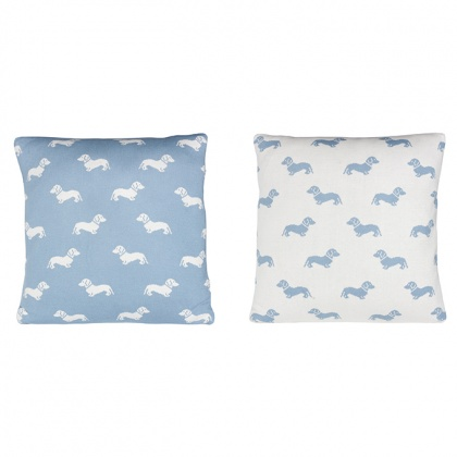 Dachshund Cushion Blue: click to enlarge