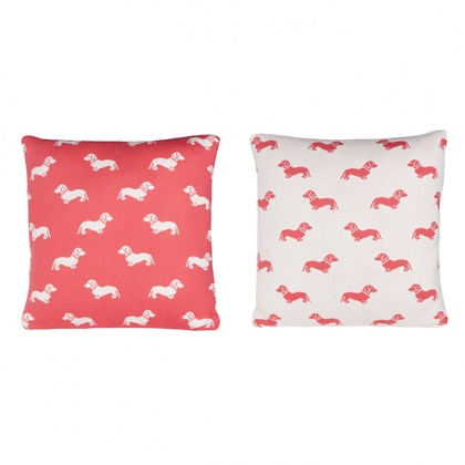 Dachshund Cushion Pink: click to enlarge