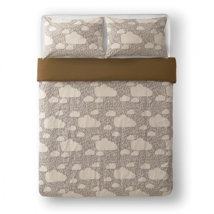 Rainy Day Bed Linen Grey: click to enlarge