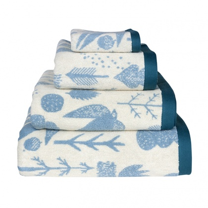 Bird & Tree Towels Duck Egg: click to enlarge