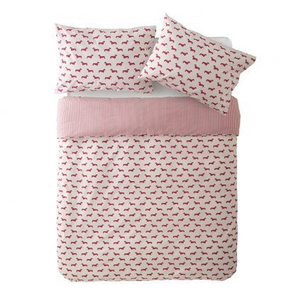 Dachshund Bedding Pink: click to enlarge