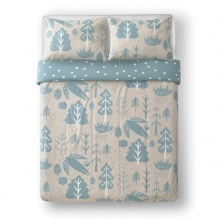 Flying Bird Bed Linen Cream & Duck Egg