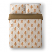 Single Tree Bed Linen Cream