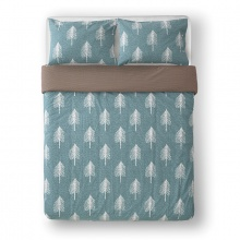 Single Tree Bed Linen Duck Egg