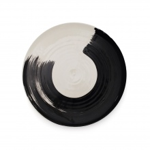 Swish Charcoal Dinner Plate