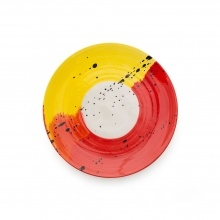Swish Red & Yellow Side Plate