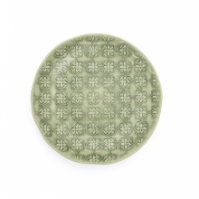Side Plate Mosaic Green